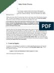 Sales Order Process Tutorial