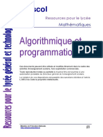 Algorithmique Et Programmation 787733
