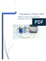 Chemistry Project Report on Finding EMF of Electrochemical Cell