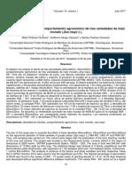 Densidad de siembra y comportamiento agronómico de tres variedades de maíz morado (Zea mayz L.)
