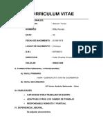 Curriculum Vitae - Ronald Alarcon