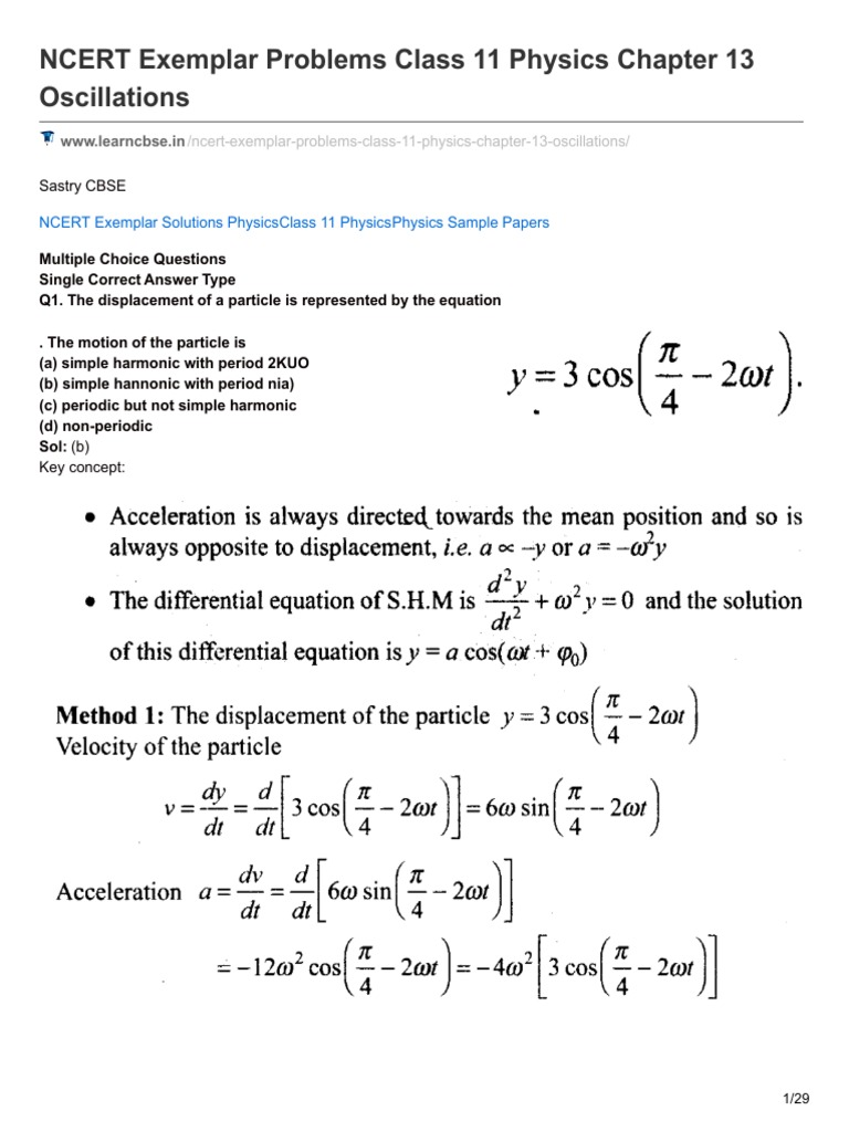 Learncbse in-nCERT Exemplar Problems Class 11 Physics Chapter 13