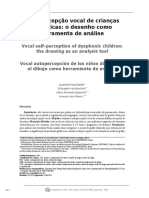 Autopercepcion Vocal de Niños Disfonicos