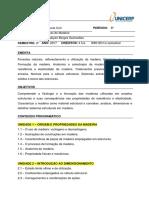Plano de Curso - Estruturas de Madeira