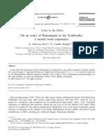 Ramanujan Infinite Sequences