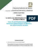 Activida 3 El Perfil Epidemiológico y La Transición Epidemiológica en México y Sus Determinantes Sociales de La Unidad 1