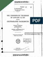 Telegrama Zimmermann NSA