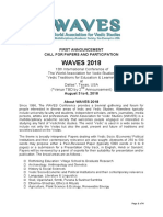 Waves 2018 Call 4 Papers
