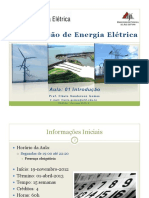 Aula de Transmissão de energia elétrica