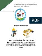 Bases Generales 2016