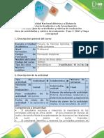 Guía de Actividades y Rubrica de Evaluación -Fase 2. RAE y Mapa Conceptual