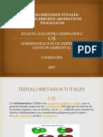 TRIHALOMETANOS TOTALES-HIDROCARBUROS AROMATICOS PILICICLICOS EXPOSICION.pptx