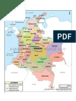 Mapa de Colombia Capitales y Departamentos
