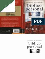 Rick Warren Metodo de Estudios Biblicos Personal