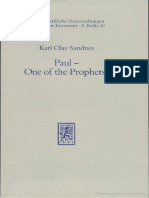Sandnes K.O.- Paul- One of the Prophets - A Contribution to the Apostle's