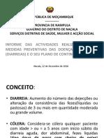 Diarreias - Plano de Contingencia