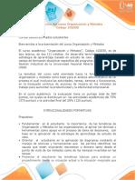 Presentación Del Curso Organización y Métodos