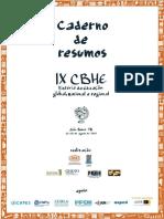 Caderno de Resumos - Ix Cbhe