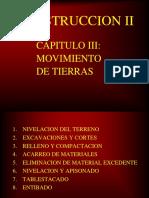 Construccion II-cap III - Movimiento de Tierras-2017