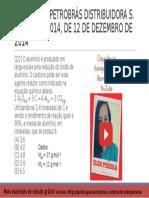 QUESTÃO 22 PROVA 4 PETROBRÁS 2014 COMENTADA | Química Para Concurso Técnico de Operação da Petrobrás
