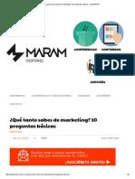 ¿Qué Tanto Sabes de Marketing_ 10 Preguntas Básicas - LuisMARAM