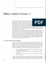 Stiffness Analysis of Frames
