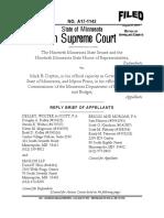 Gov. Mark Dayton's reply brief to Minnesota Supreme Court