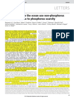 Phytoplankton in the Ocean Use Non-phosphorus Lipids In