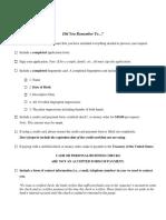 FBI Identity History Summary Request Checklist