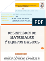 Desinfeccion de Materiales Basicos