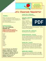 5th grade newsletter-week of 8 28 2017