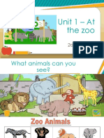 2° Unit 1 - At the Zoo