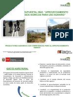 Exposición a Nivel Distrital DGIAR AGRO RURAL y ANA