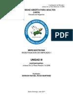 Universidad Abierta Para Adultos Investigacion de Mercado i Unidad III Juliana de La Rosa