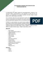 Determinacion de Materia Organica Por Permanganometria.