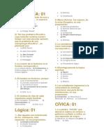 2 Sobre Historia, Geografía, Cultura General, Filosofía, Cívica, Lógica