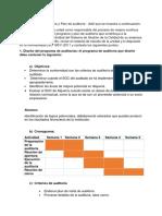Programa y Plan Auditoria Daniel