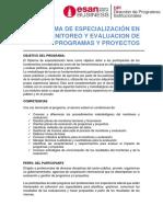 Diploma de Monitoreo y Evaluacion Agosto