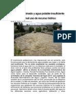 Chili Contaminado y Agua Potable Insuficiente Por Mal Uso de Recurso Hídrico