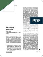 Peter Weibel Condicion Postmedia