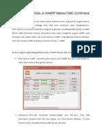Mengaktifkan MySQL Di XAMPP Melalui CMD