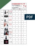 BIN Nail Gel Polish Price List