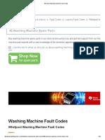 Whirlpool Washing Machine Fault Codes.pdf