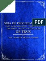 GUIA DE PROCEDIMIENTOS PARA LA ELABORACIÓN Y PRESENTACIÓN DEL PROYECTO DE INVESTIGACIÓN DE TESIS.pdf