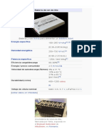 Batería de Ion de Litio . Info