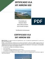 Certificado Vla Skyarrow