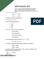 GGSIPU-mathmatics-2013