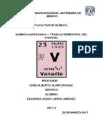 Quimica Inorganica Trabajo de Vanadio