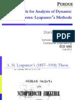 Lyapunov Stability Analysis