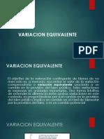 VARIACION EQUIVALENTE